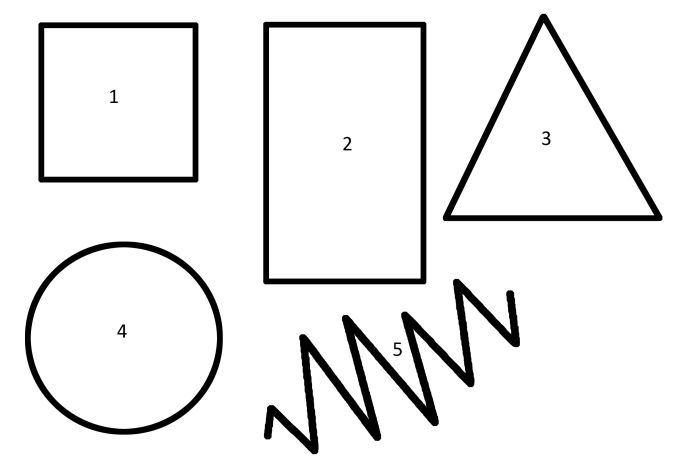 Geometrines figuros vaikams