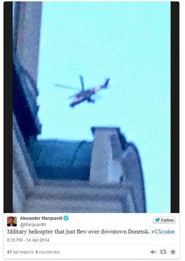 """Twitter"" iliustr./Kariniai sraigtasparniai Donecke"