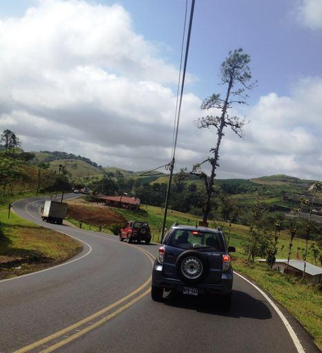 Asmeninio albumo nuotr./Tipiškas kelias Kosta Rikoje