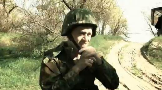Kadras iš filmuotos medžiagos/Ukrainos žurnalisto eksperimentas