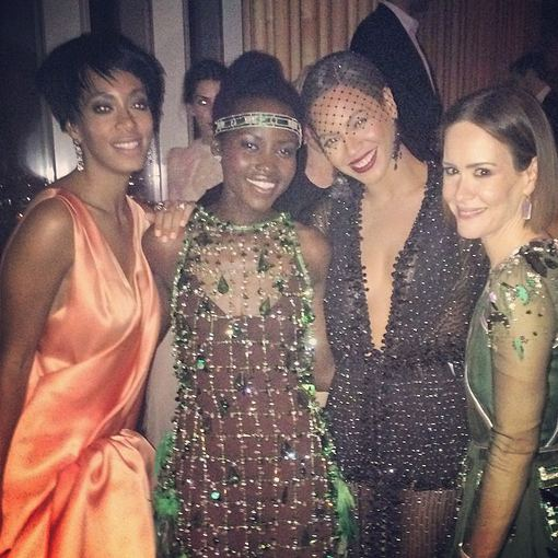 """Instagram"" nuotr./Solange Knowles, Lupita Nyong, Beyonce ir Sarah Paulson"