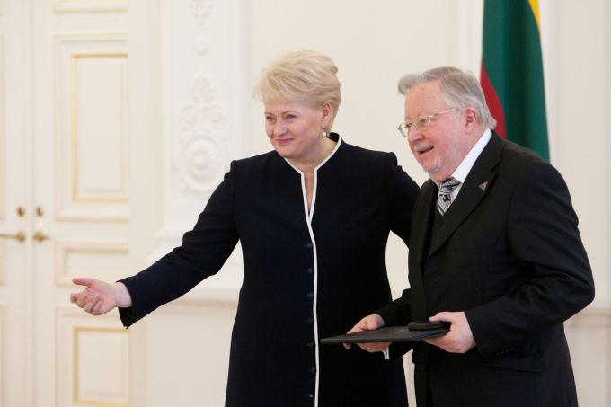 Dalia Grybauskaitė ir Vytautas Landsbergis