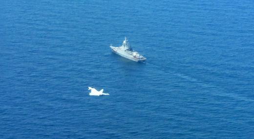 raf.mod.uk nuotr./Britų užfiksuotas rusų karo laivas netoli Latvijos teritorinių vandenų