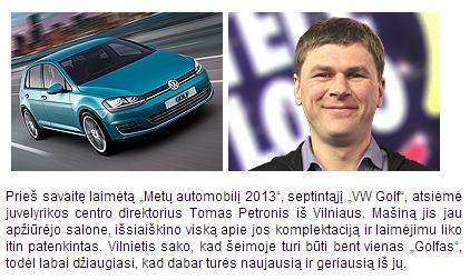 Tomas Petronis laimėjo VW Golf