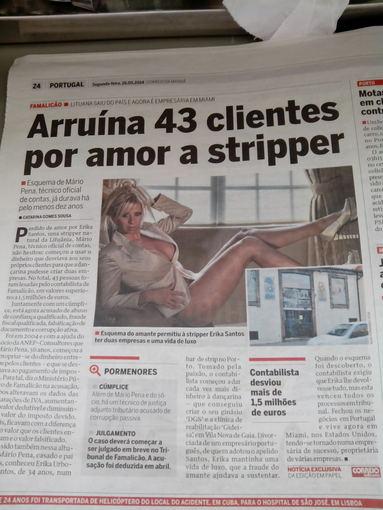 Žmonės.lt skaitytojo nuotr./Straipsnis apie Eriką Santos Portugalijos laikraštyje