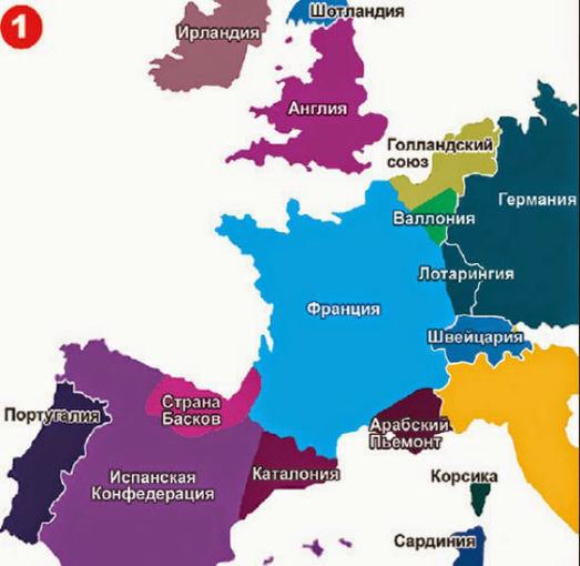 Ekspress Gazeta žemėlapis/Vakarų Europa pagal Rusiją