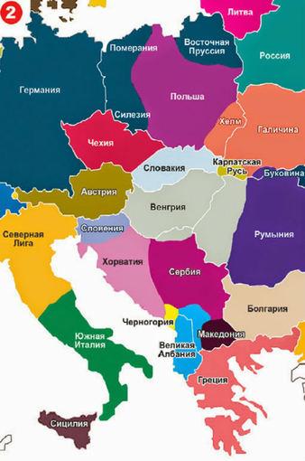 Ekspress Gazeta žemėlapis/Vidurio Europa pagal Rusiją