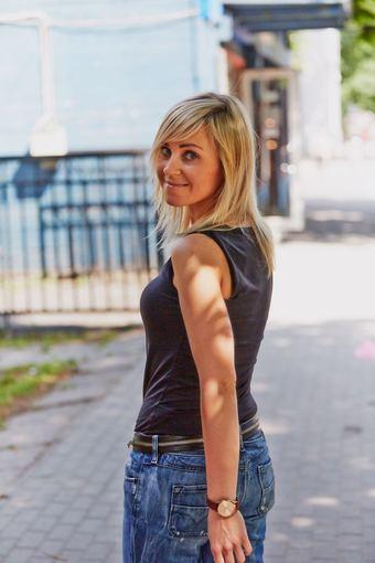 Korespondentė Agnė Kairiūnaitė. Luko Motiejūno nuotr.