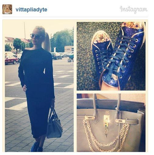 Instagram nuotr./Vita Jakutienė ir jos kritikos sulaukusi rankinė