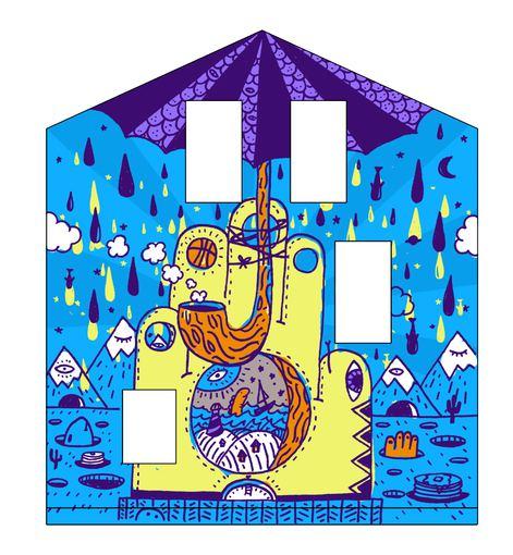 Urtės Korsakovaitės nuotr./Pagal šį eskizą bus tapomas paveikslas ant trijų aukštų namo