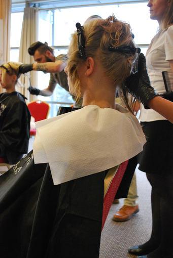 Plaukų paruošimas antrajam žingsniui