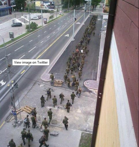 """""""Twitter"""" nuotr./Donecko gatvės"""