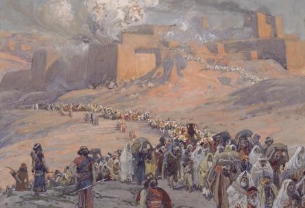 Saliamono šventyklos sugriovimas ir ištrėmimas į Babiloną