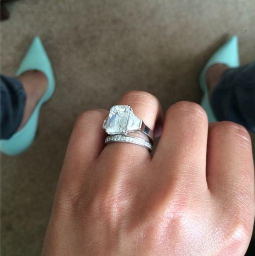 """""""Instagram"""" nuotr./Cheryl Cole vestuvinis žiedas"""