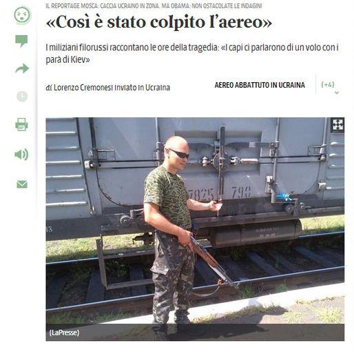 """""""Corriere della Sera"""" straipsnis"""