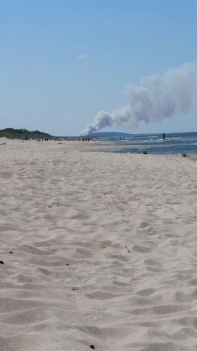 Skaitytojo nuotr. /Karaliaučiuje Netoli Nidos dega miškas