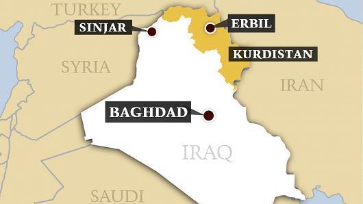 CNBC iliustr./Irako žemėlapis