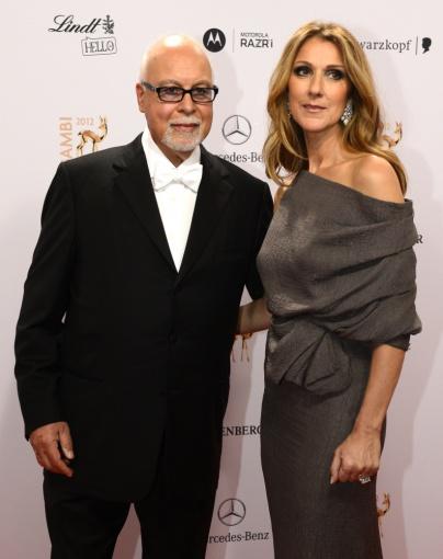 """AFP/""""Scanpix"""" nuotr./Celine Dion su vyru Rene Angeliliu"""