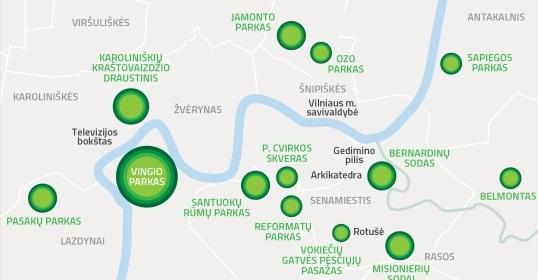 7 tyliosios zonos, kur galima pailsėti nuo miesto keliamo triukšmo.