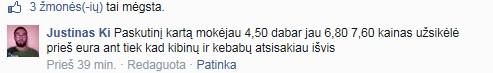 FB iliustr./Skaitytojo komentaras apie kibinų kainas