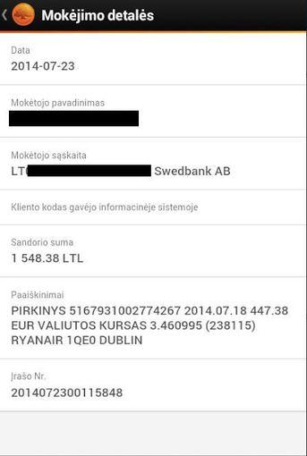 """Skaitytojos nuotr./Skaitytojos Redos """"Ryanair"""" bilieto pirkimo istorija"""