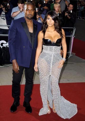 AOP nuotr./Kim Kardashian ir Kanye Westas