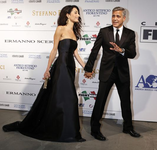 """Reuters""/""Scanpix"" nuotr./George'as Clooney ir Amal Alamuddin"