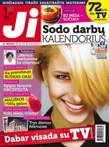 """Redakcijos archyvo nuotr./2014 m. rugsėjo mėnesio žurnalo """"Ji"""" Nr. 38"""