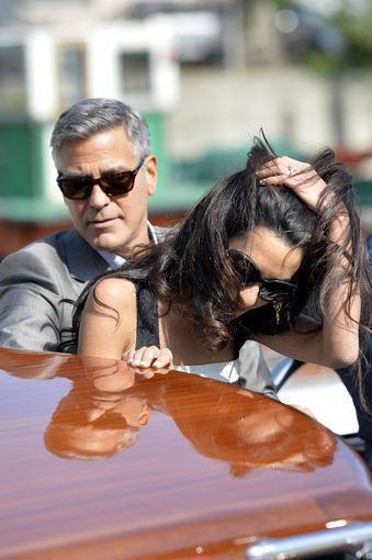 """Scanpix"" nuotr./George'as Clooney ir Amal Alamuddin"