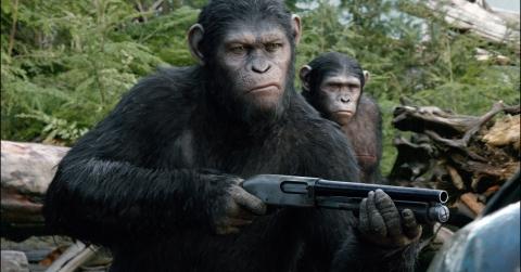 """Filmo """"Beždžionių planetos aušra"""" ištrauka."""