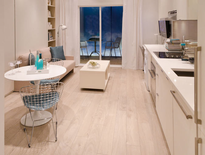 Kitchen Cabinets In Micro Apartments