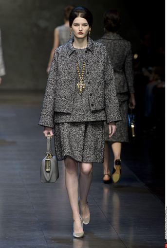 """""""Scanpix"""" nuotr./""""Dolce & Gabbana"""" 2014-2015 m. rudens-žiemos kolekcija Milano mados savaitėje."""