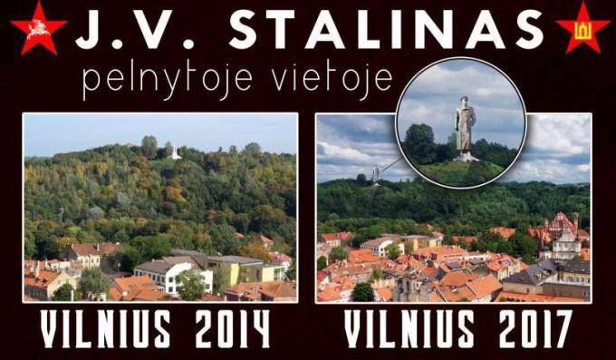 "Propagandinis plakatas, skleidziamas per lietuviska ""Facebook""."