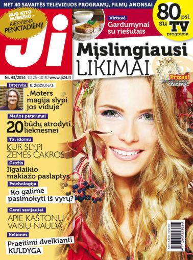 """Redakcijos archyvo nuotr./2014 m. spalio mėnesio žurnalo """"Ji"""" Nr. 43"""
