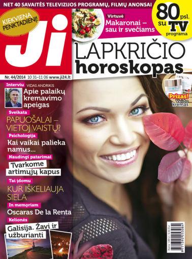 """Redakcijos archyvo nuotr./Lapkričio mėnesio žurnalo """"JI"""" viršelis (Nr. 44)"""
