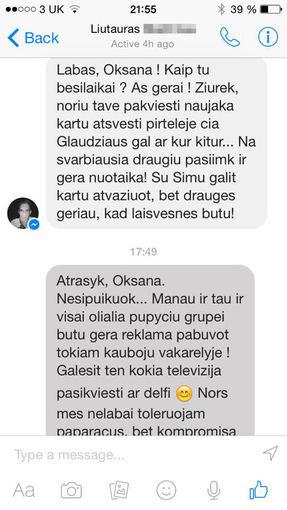 Asmeninio albumo nuotr./Žinutės Oksanai Pikul-Jasaitienei