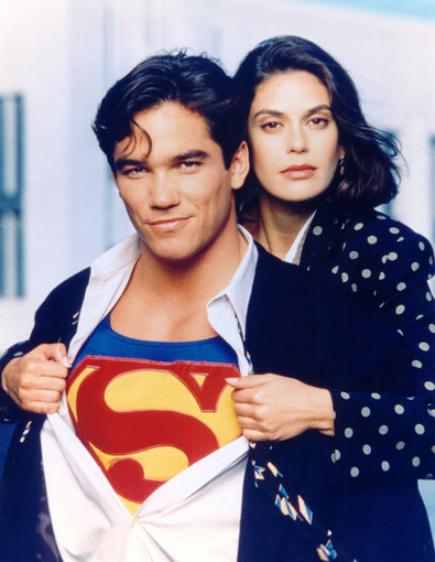 "AOP nuotr./Deanas Cainas ir Teri Hatcher seriale ""Lois & Clark: The New Adventures of Superman"""