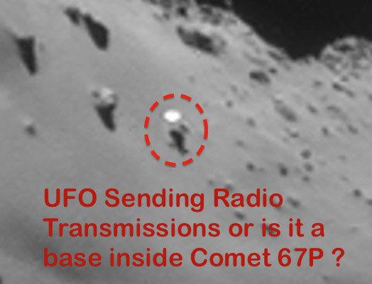 Internautai spekuliuoja, kad  kometos paviršiuje galėjo būti pastebėtas ateivis