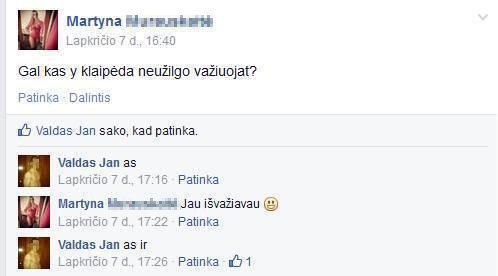 """""""Facebook"""" nuotr. /Įtariamas studentės Justinos Šikšniūtės nužudymu Valdas Jankauskas aukos ieškojo seniai?"""