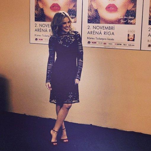 """""""Scanpix"""" nuotr./Kylie Minogue savo koncertinio turo Rygoje metu."""