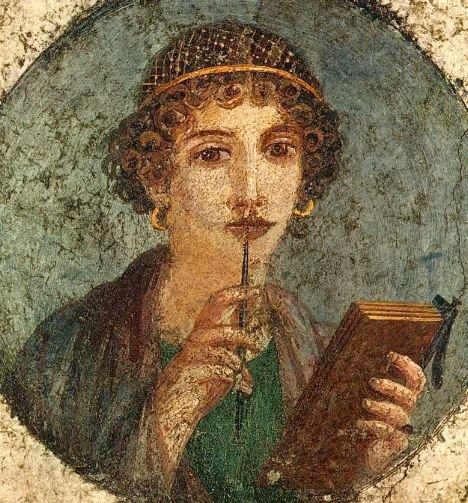 Wikipedia.org nuotr./Graikų poetės Sapfo portretas.
