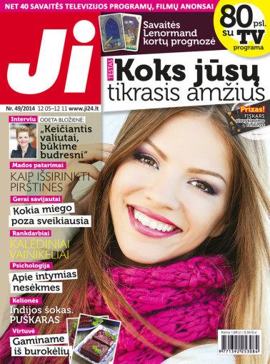 """Redakcijos archyvo nuotr./Žurnalo """"Ji"""" viršelis, 49 nr."""