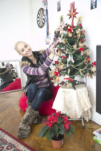Viganto Ovadnevo/Žmonės.lt nuotr./Kalėdinės puošmenos Kristinos Tarasevičiūtės namuose