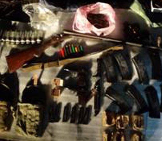 Ukrainos saugumo paskelbtos nuotr. /Rasti ginklai