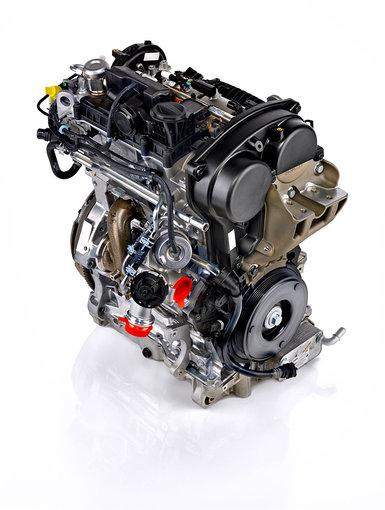 """""""Volvo"""" nuotr./""""Volvo"""" trijų cilindrų variklis"""