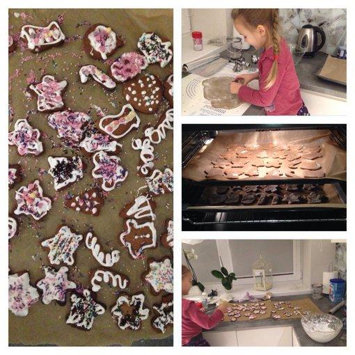 Asmeninio albumo nuotr./Godos Alijevos dukra Tėja kepė sausainius