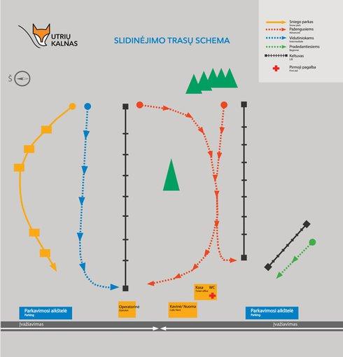 Trasų schema