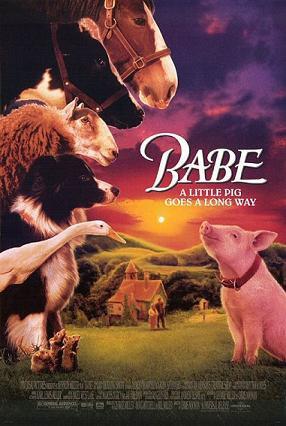 """Filmo plakatas/Christine Cavanaugh filme """"Mažylis"""" įgarsino pagrindinį veikėją paršelį Mažylį"""