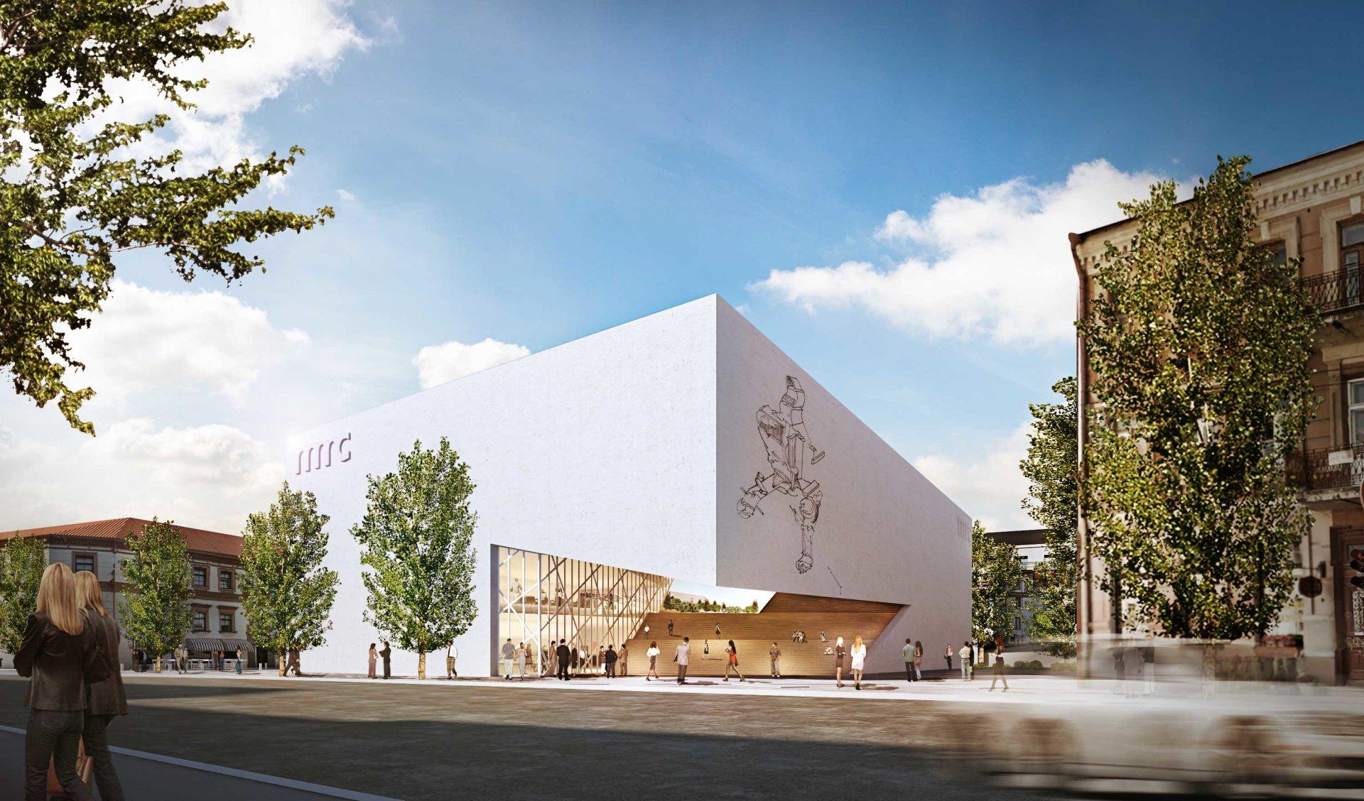 """Vaizdo rezultatas pagal užklausą """"""""Studio Libeskind"""" kartu su partneriais Lietuvoje suprojektuotas pastatas bus 3100 kvadratinių metrų ploto."""""""