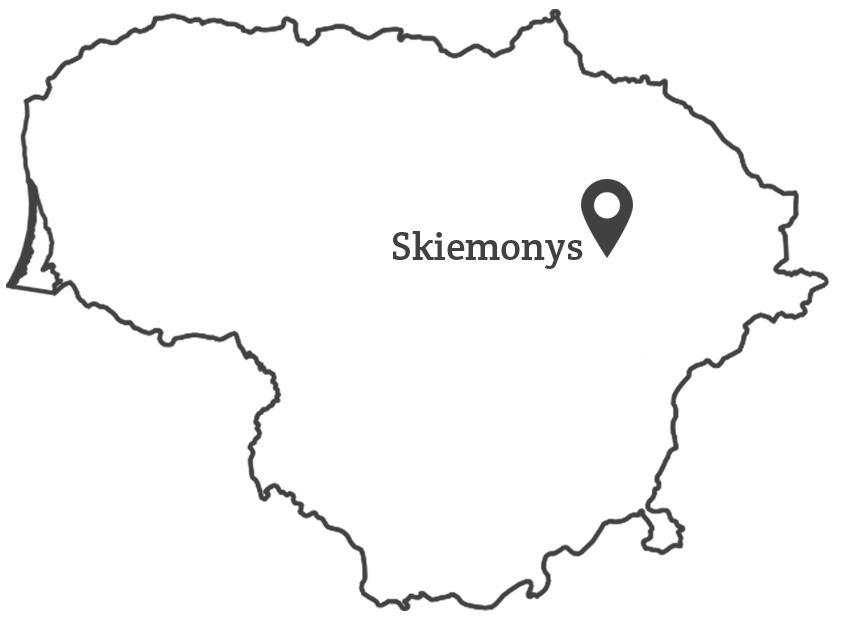 100 lietuvu - Skiemonys žemėlapis